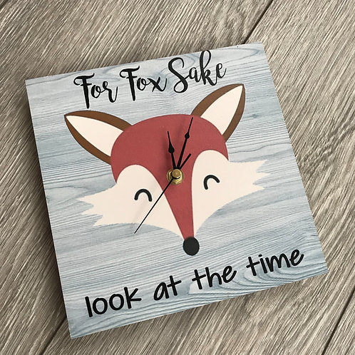 For Fox sake clock