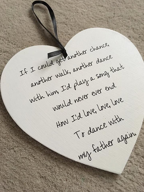 If I could get another change hanging heart