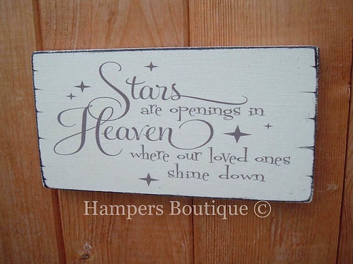 Stars are openings in heaven plaque