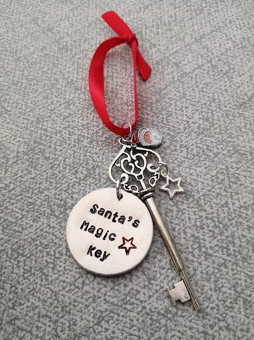 Hand stamped Santas magic key