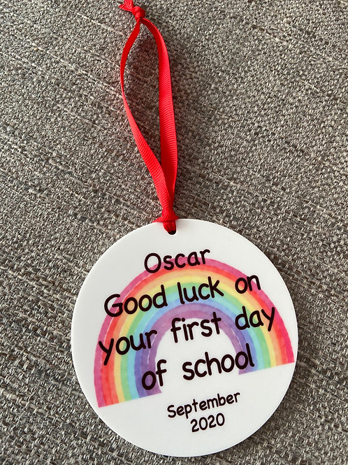 Good luck on your first day acrylic keepsake