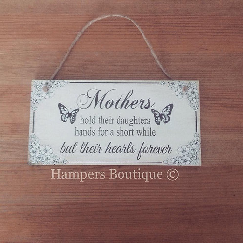 Mothers hold their daughters hands plaque