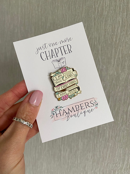 Just one more chapter pin