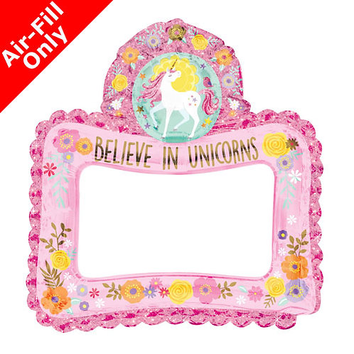 Inflatable unicorn selfie frame