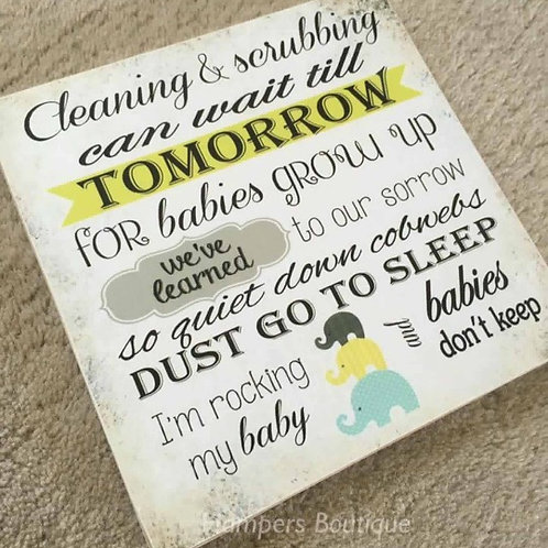 Cleaning and scrubbing can wait plaque