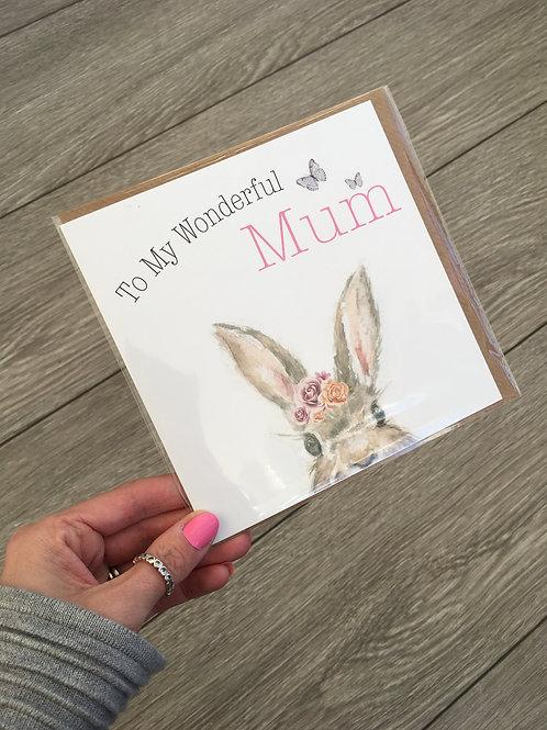To my wonderful mum card