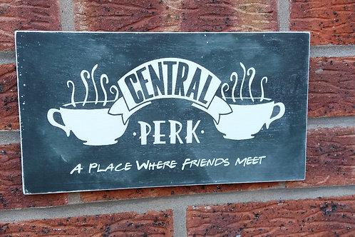 A place where friends meet plaque