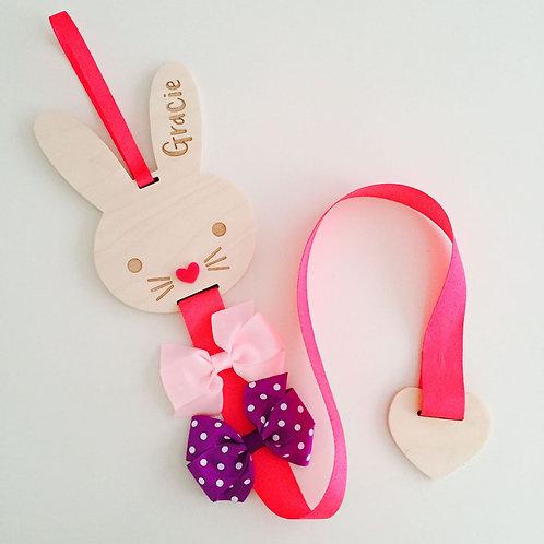Bunny bow holder