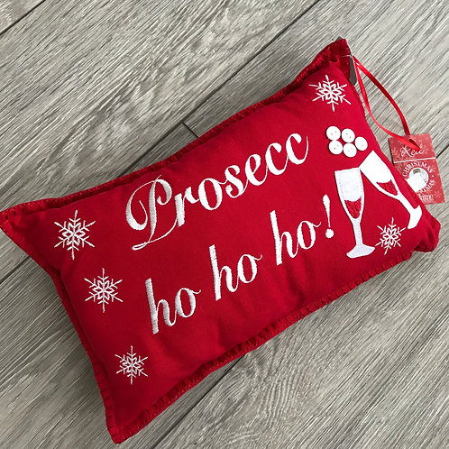 Prosecc ho ho cushion
