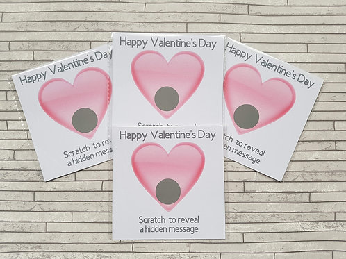 Valentines scratch cards
