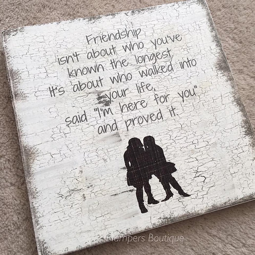 Friendship isn't about plaque