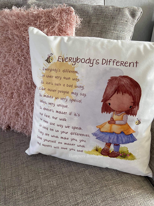 Everybody's different cushion