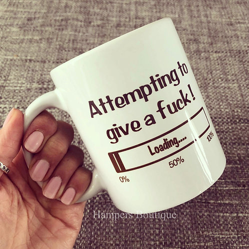 Attempting to give a mug
