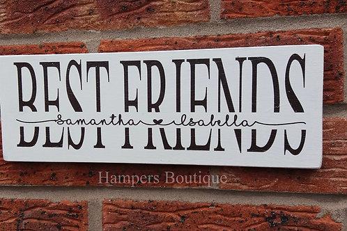 Personalised best friend plaque