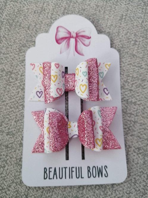 Hearts bow set