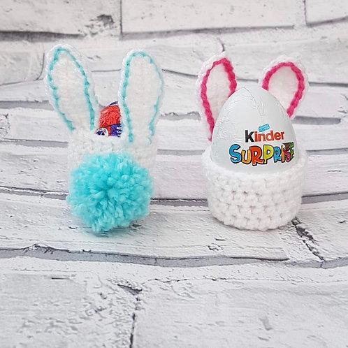 Crochet chocolate egg holder