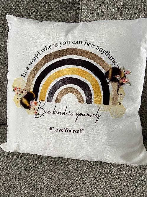 Bee kind to yourself cushion