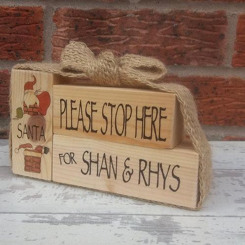 please stop here pine blocks