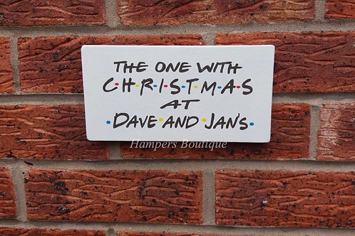 The one with Christmas at plaque
