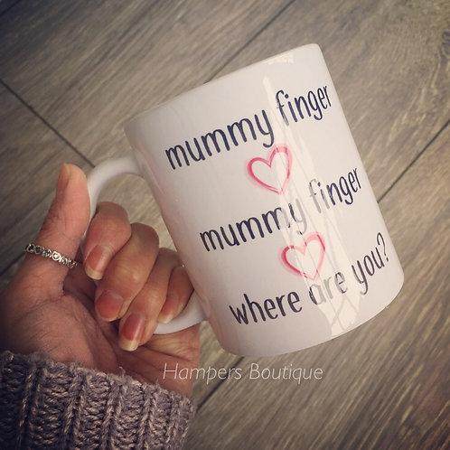 Mummy finger mug