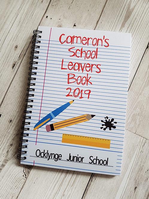 School leaver notebook