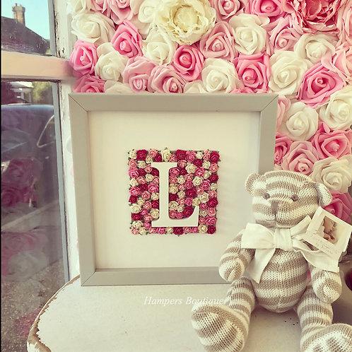 Flower letter frame