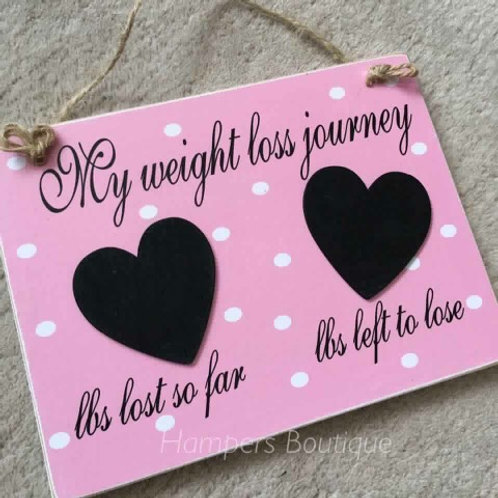 My weight loss journey plaque