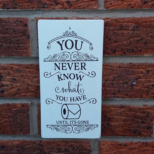 You never know what you have plaque
