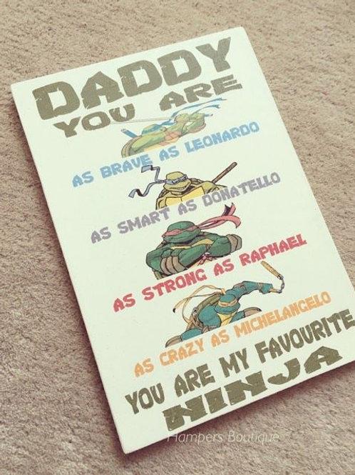 Ninja turtle plaque