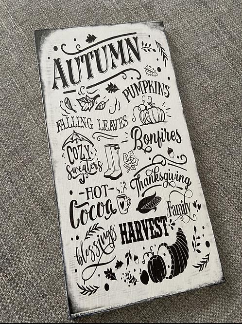 Autumn wooden plaque