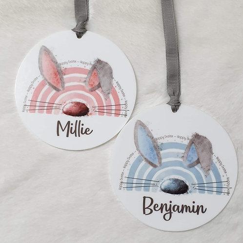 Personalised bunny acrylics
