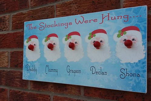 Father Christmas stocking plaque