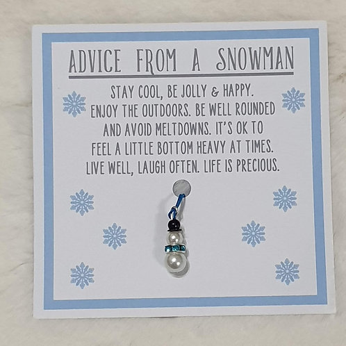Advice from a snowman
