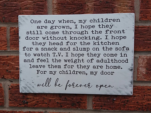 One day when my children are grown plaque (new)