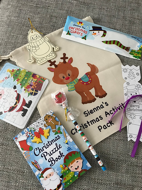 Personalised Christmas activity set