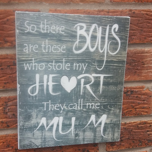 So there are these boys shabby chic grey plaque
