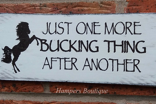 Just one more bucking thing plaque
