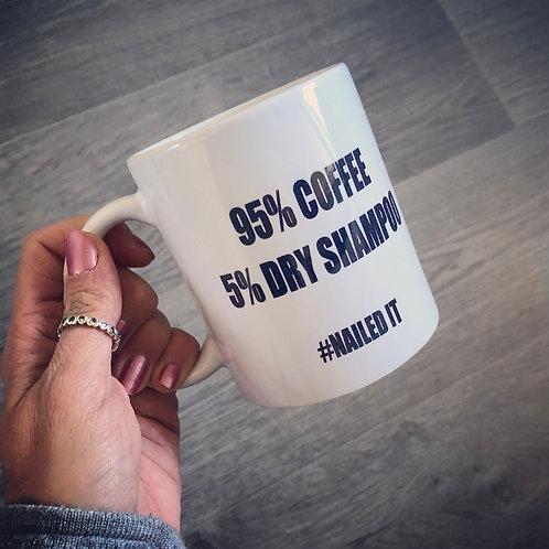 95 percent coffee mug
