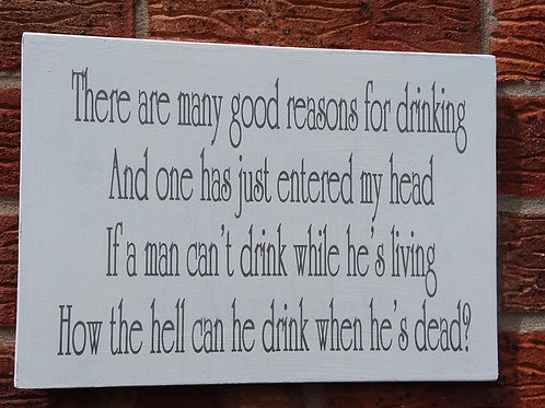 There are many good reasons for drinking plaque