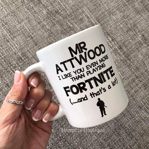 Teacher fortnite mug