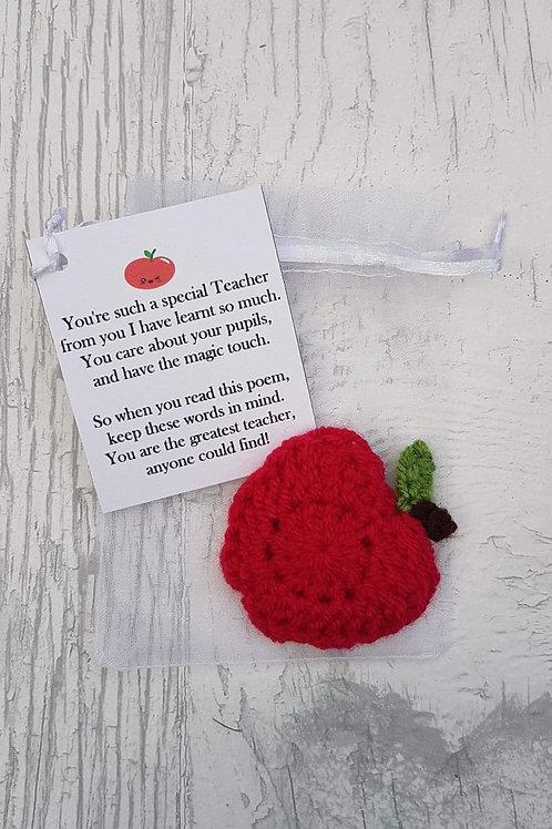 Crochet Apple teacher gift