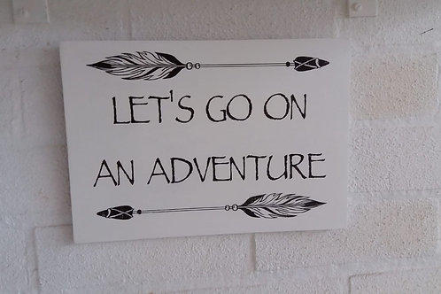 Let's go on an adventure plaque