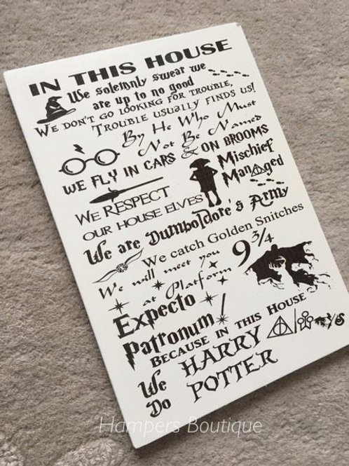 Harry potter plaque