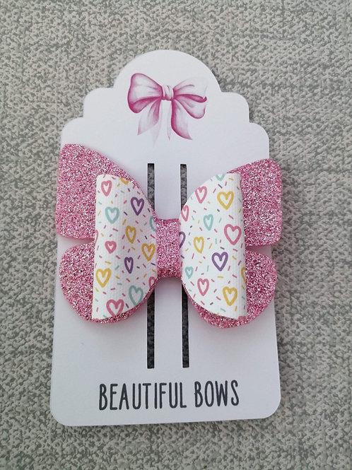 Butterfly heart bow