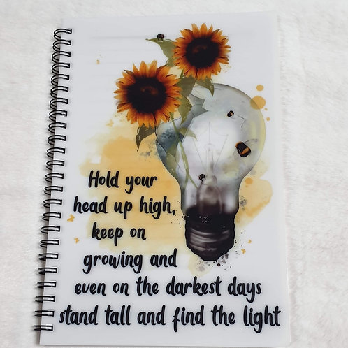Hold your head up high notebook