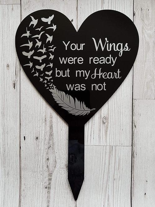 Acrylic heart stake