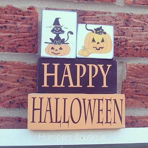 Happy Halloween blocks