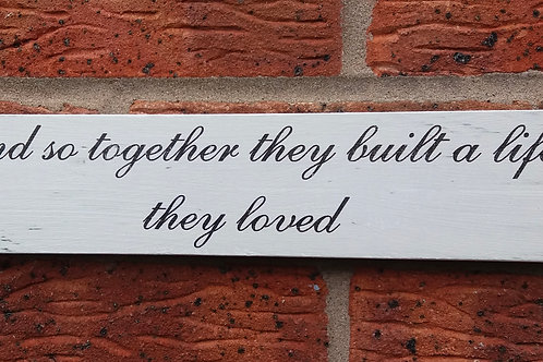 And so together plaque