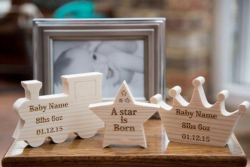 Wooden baby keepsake
