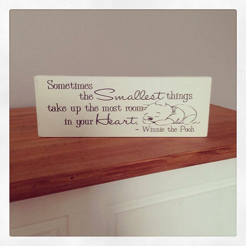 Sometimes the smallest things plaque
